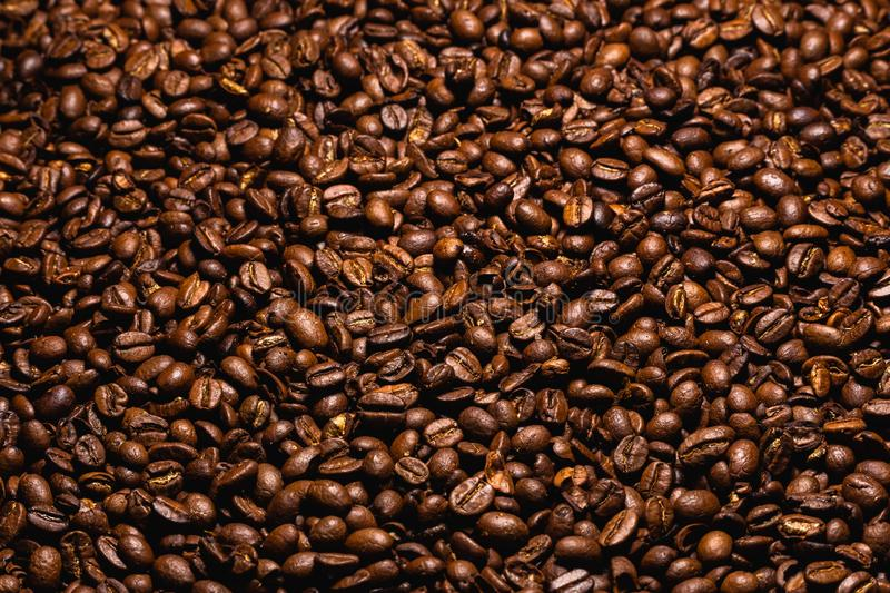 Coffee Bean Textured Background brown royalty free stock photos