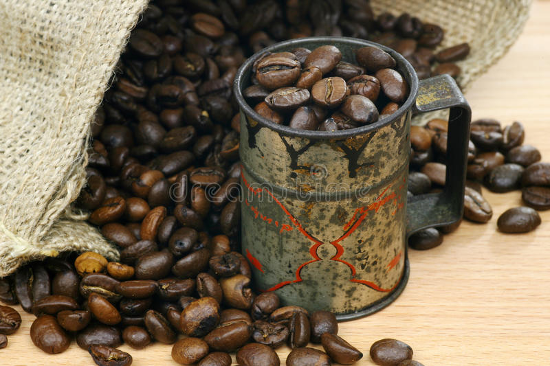 Download Coffee beans stock photo. Image of beans, detail, fabric - 12061512
