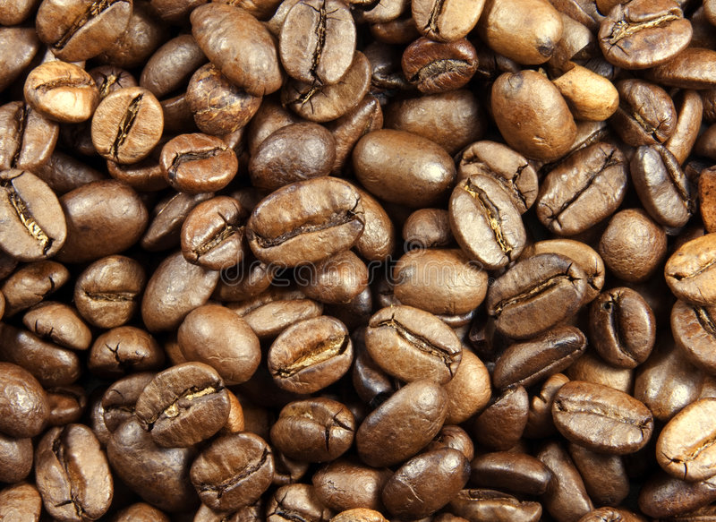 Download Coffee beans stock photo. Image of vitality, close, texture - 1707918