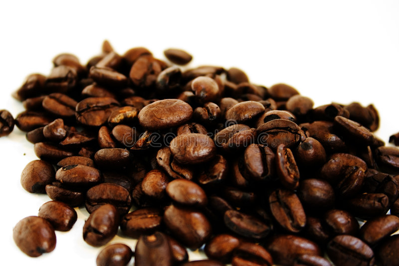 Download Coffee beans stock photo. Image of moka, background, brown - 174226