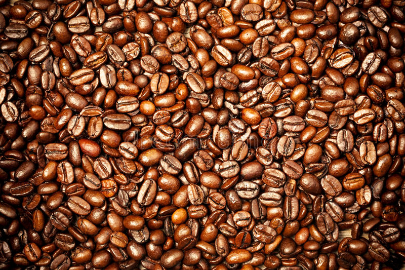 Coffee beans. Abstract textured background stock photography