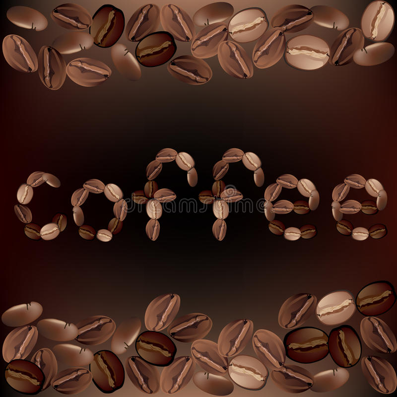 Download The coffee beans stock illustration. Image of beans, caffeine - 23478954