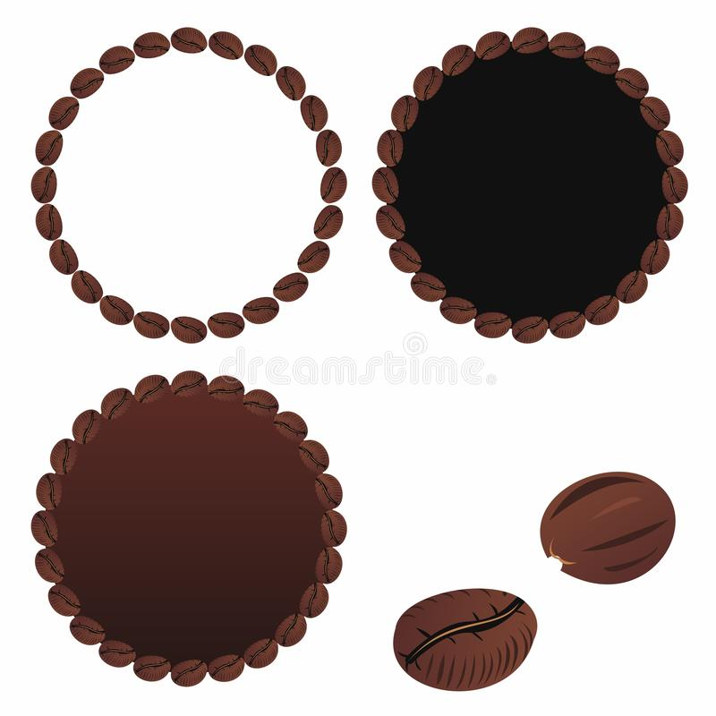 Download Coffee beans stock vector. Image of full, crop, isolated - 24435883