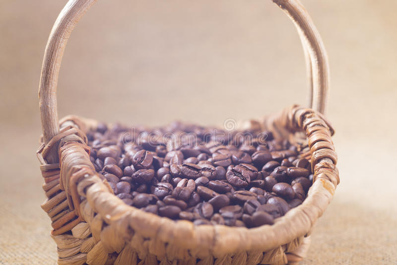 Download Coffee beans stock photo. Image of wicker, background - 28646352
