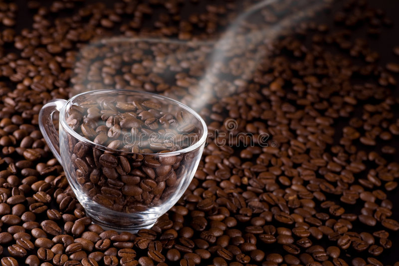 Coffee-beans royalty free stock photos