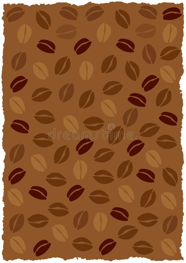 Coffee beans background stock illustration
