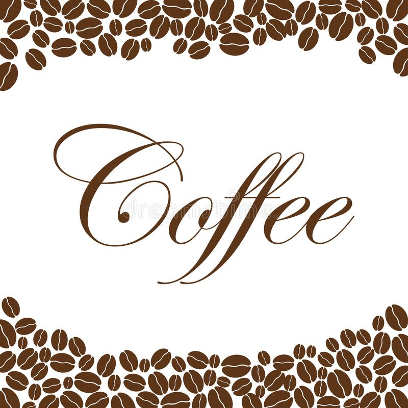 Coffee beans background, coffee design template, creative vector royalty free illustration