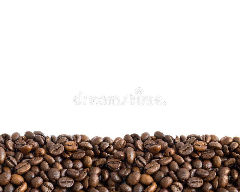 Coffee Beans Border 2 Stock Image