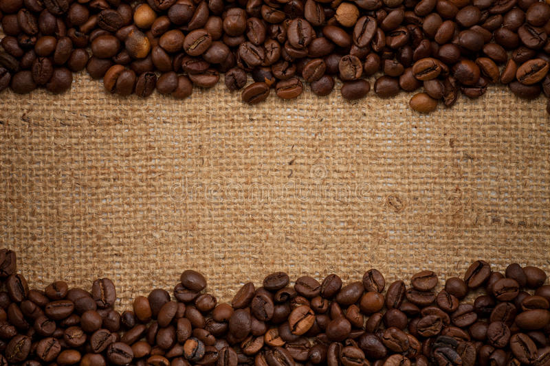 Download Coffee Beans On Burlap Background Stock Photo - Image of detail, hessian: 21583194