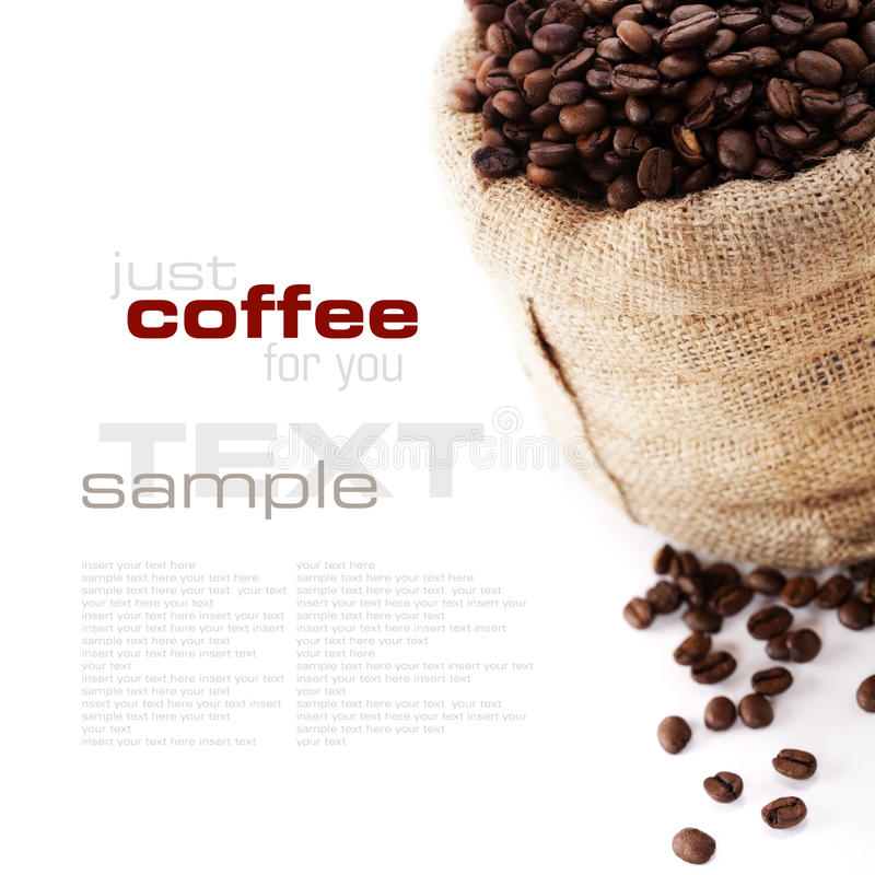 Download Coffee Beans In Canvas Sack Royalty Free Stock Image - Image: 17715956