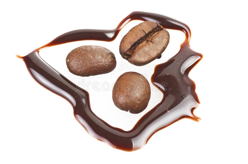 Coffee Beans And Chocolate Royalty Free Stock Photography