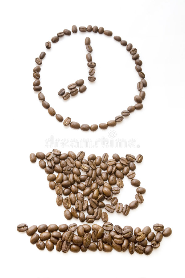 Free Coffee Beans Clock At 8 Royalty Free Stock Photo - 7584545