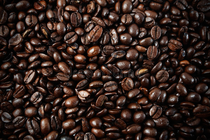 Coffee beans closeup royalty free stock photo