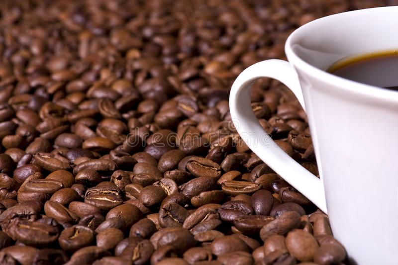 Coffee Beans and Coffee Cup stock image