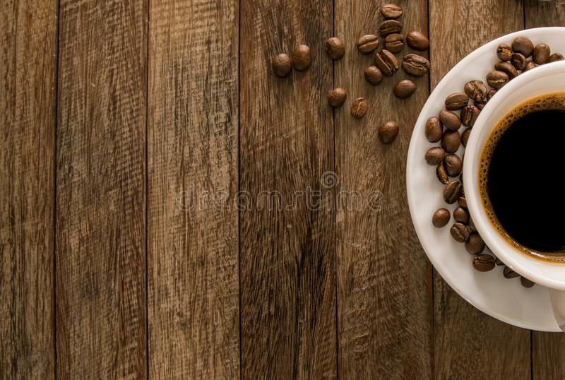 coffee beans, coffee cup. stock image