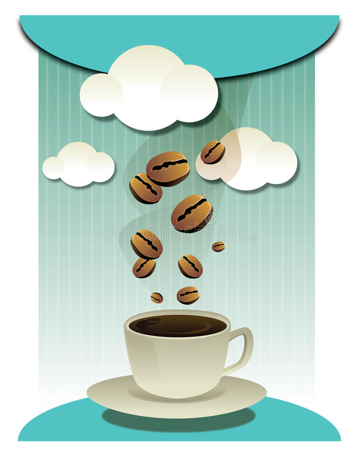Download Coffee Beans And Coffee Cup  Graphic Stock Vector - Image: 24660569