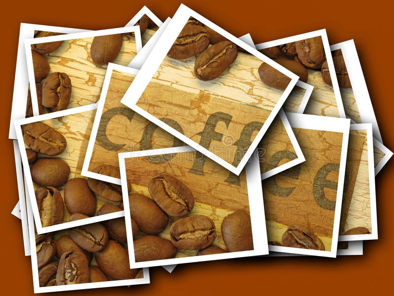 Coffee beans collage royalty free stock images