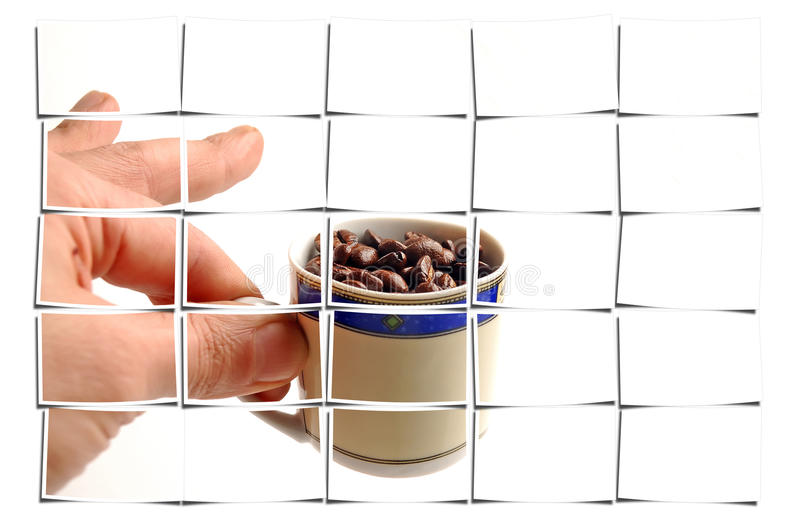 Download Coffee beans cup stock photo. Image of brown, squirt - 21993450
