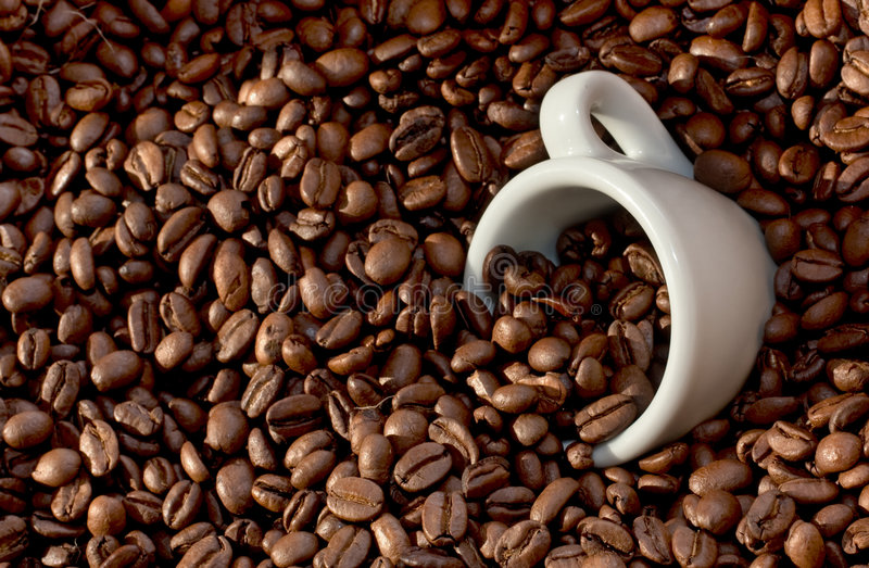 Download Coffee Beans And Cup (4) Stock Photos - Image: 8033253