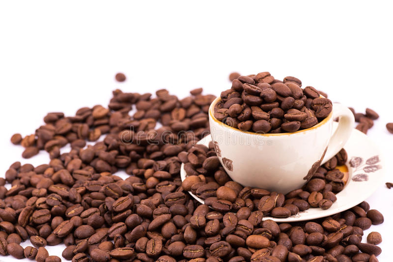 Download Coffee Beans And Cup Of Coffee Background Stock Image - Image of brown, gourmet: 29054675