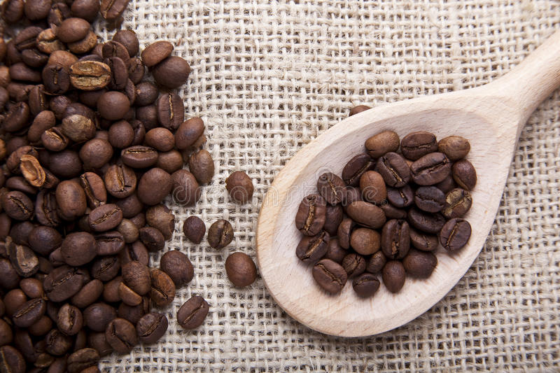 Download Coffee beans on fabric stock photo. Image of coffee, fabric - 23067756