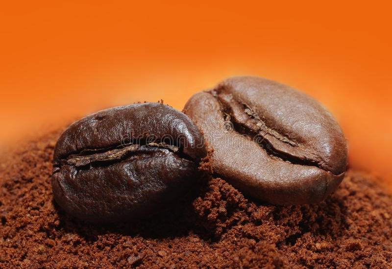 Download Coffee Beans And Ground Coffee Stock Image - Image: 11955453