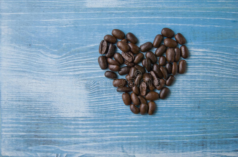 Coffee beans heart royalty free stock photos