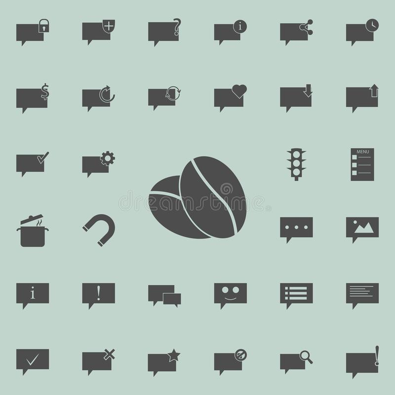 coffee beans icon. Detailed set of Minimalistic icons. Premium quality graphic design sign. One of the collection icons for webs royalty free illustration