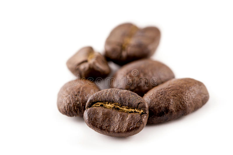 Coffee beans isolated on white background stock image