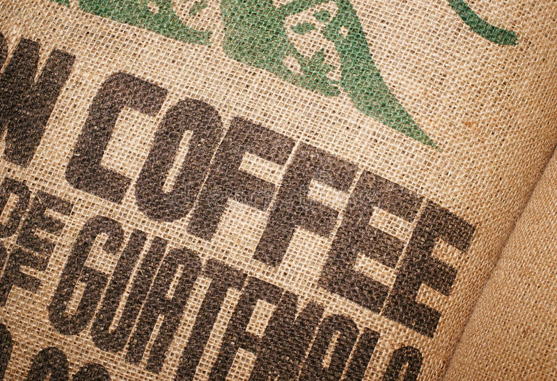 Coffee Beans Jute Sack royalty free stock photo