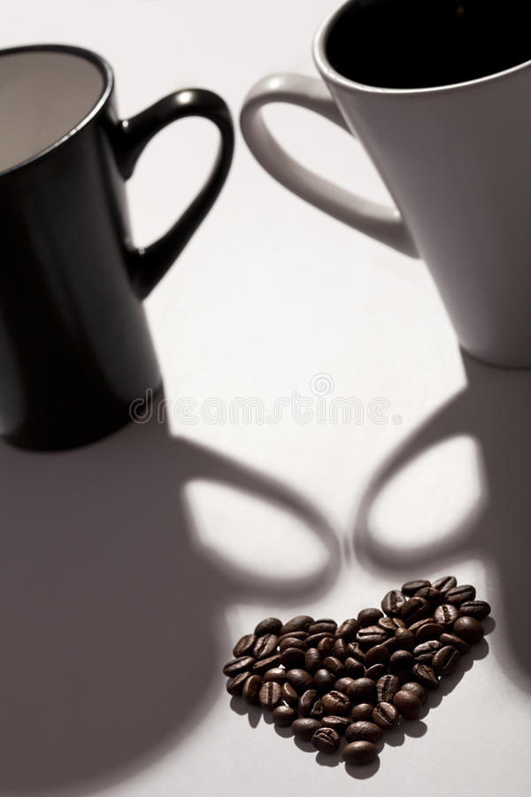 Download Coffee beans like a heart stock image. Image of macro - 13467073