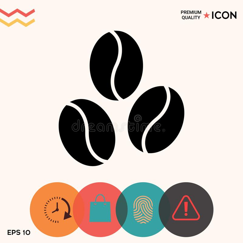 Coffee beans line icon. Element for your design stock illustration