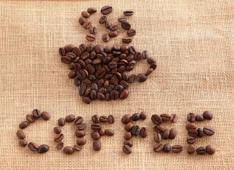 Download Coffee Beans On Linen Background Stock Photo - Image: 23011788