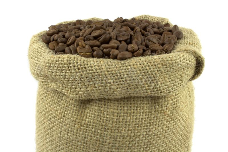 Download Coffee Beans And Linen Sack Stock Image - Image: 25248707