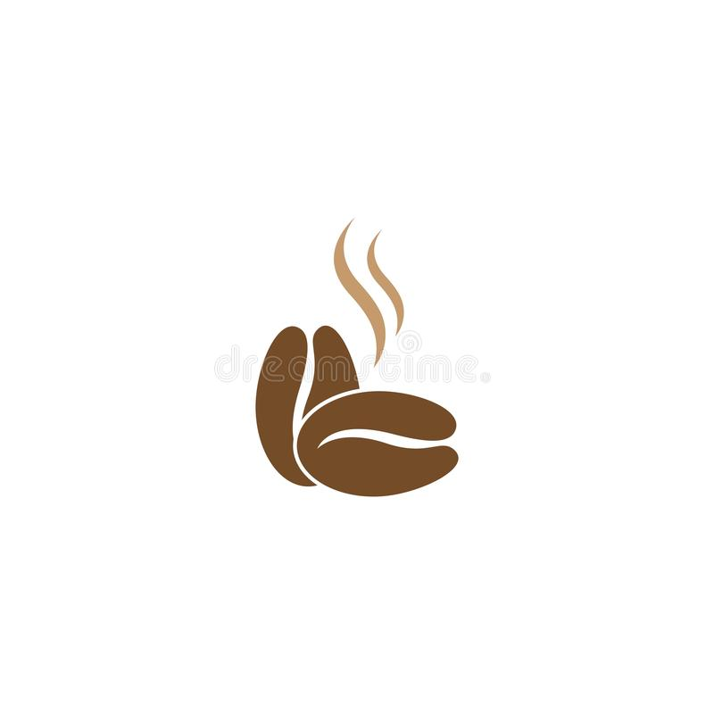 Roasted coffee beans. Illustration of two roasted coffee beans stock illustration