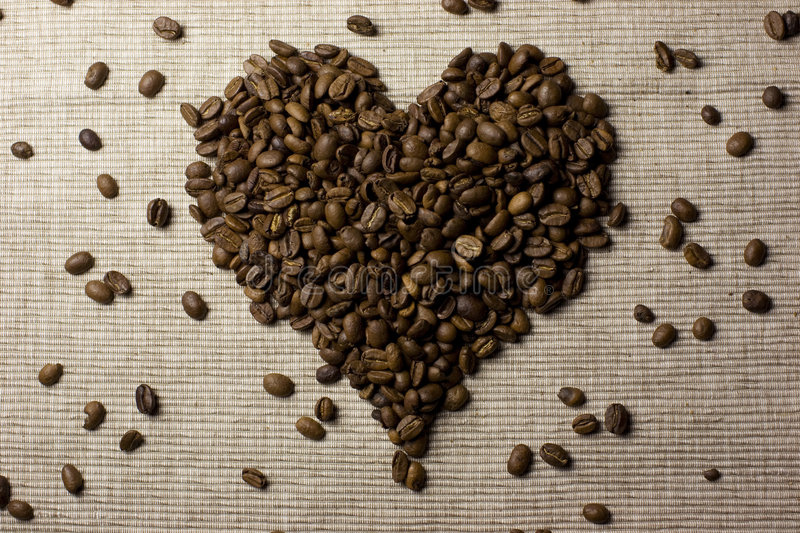 Download Coffee Beans Love Heart Stock Image - Image: 7731161