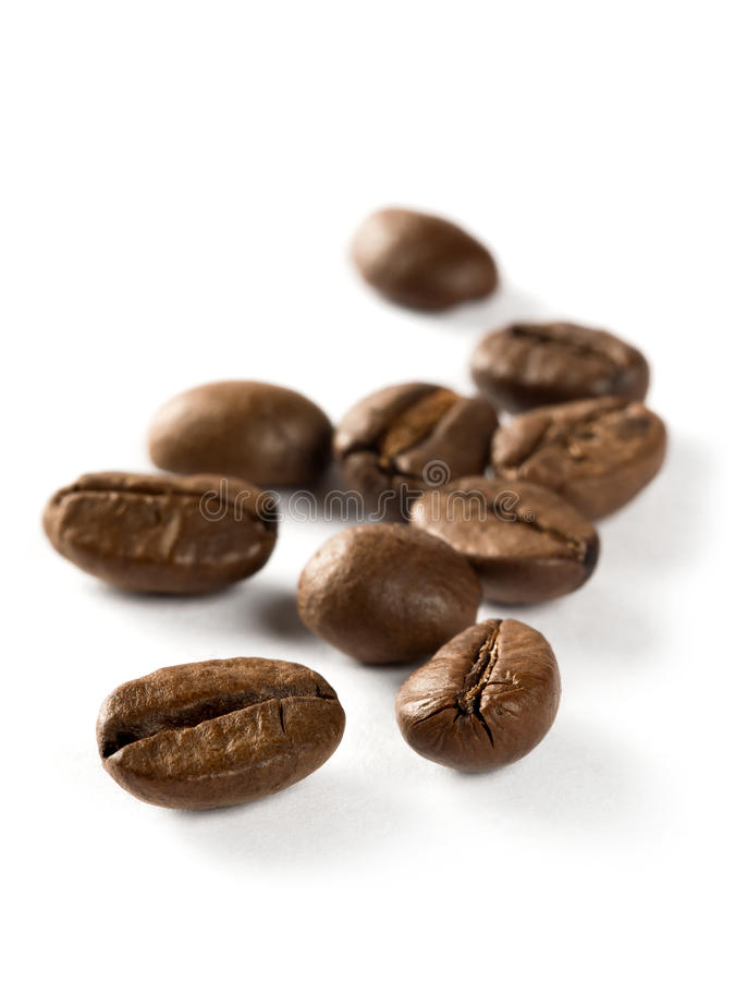 Download Coffee beans macro stock photo. Image of cutout, drink - 32870768