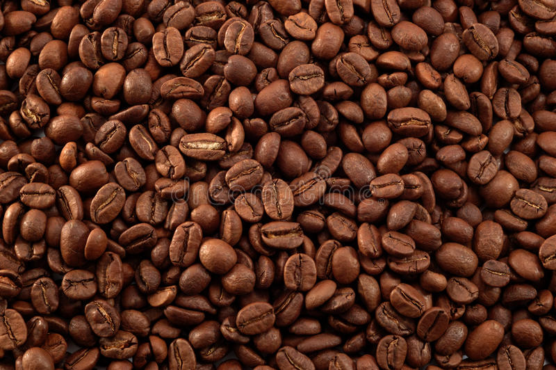 Coffee beans natural background stock photography