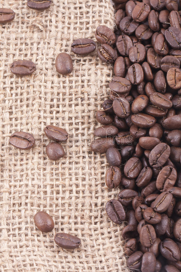 Free Coffee Beans On Jute Stock Photography - 17020492