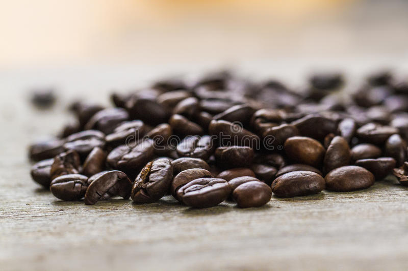 Coffee Beans. Pile of freshly roasted coffee beans royalty free stock images
