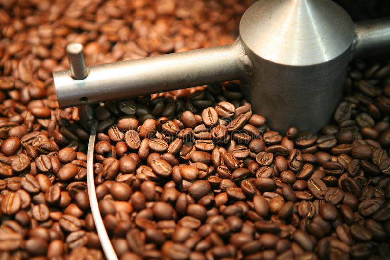 Coffee Beans Roasting Stock Images
