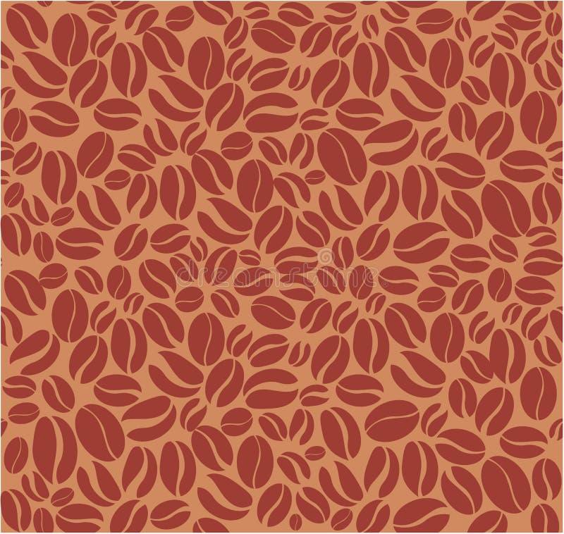 Coffee beans seamless pattern vector illustration
