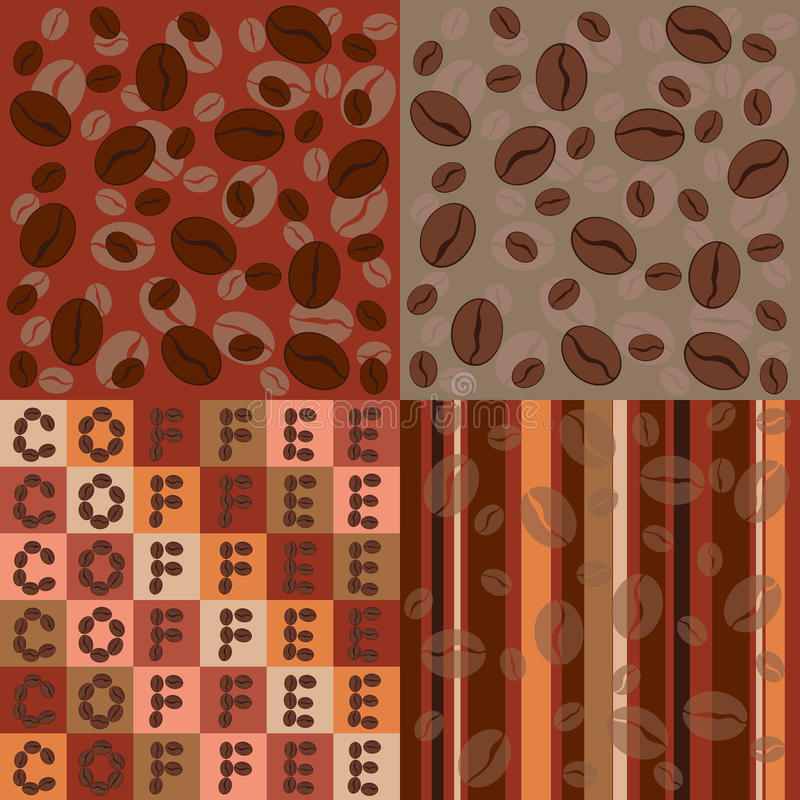 Download Coffee Beans Seamless Pattern Set Royalty Free Stock Photography - Image: 24311597