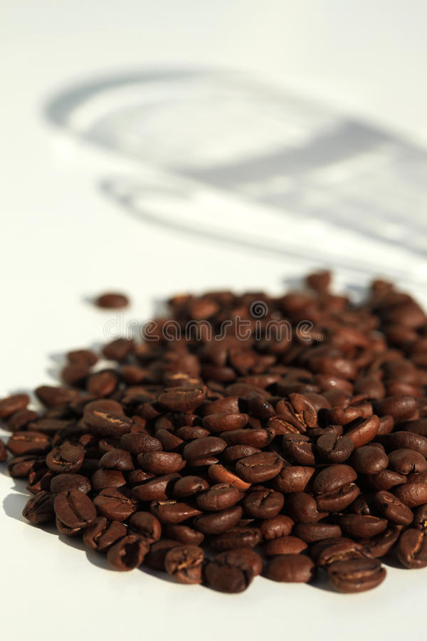 Coffee beans and the shadow