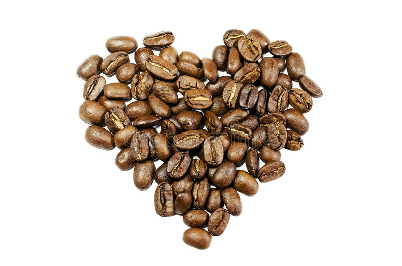 Download Coffee Beans In The Shape Of A Heart Stock Image - Image: 26556929