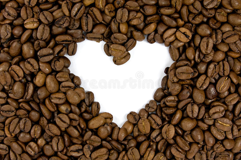 Download Coffee Beans Shows A Heart Shape Stock Photo - Image: 18267768