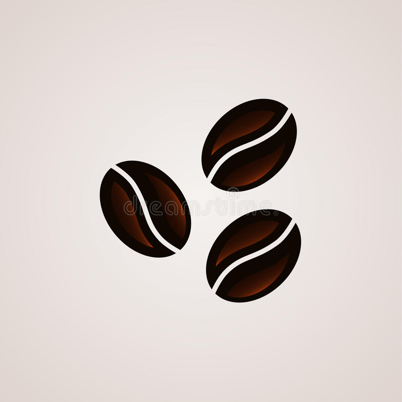 Coffee beans signs logo template stock illustration