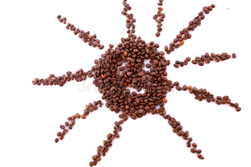 Download Coffee Beans In Sun Symbol Isolated Stock Image - Image: 10612383