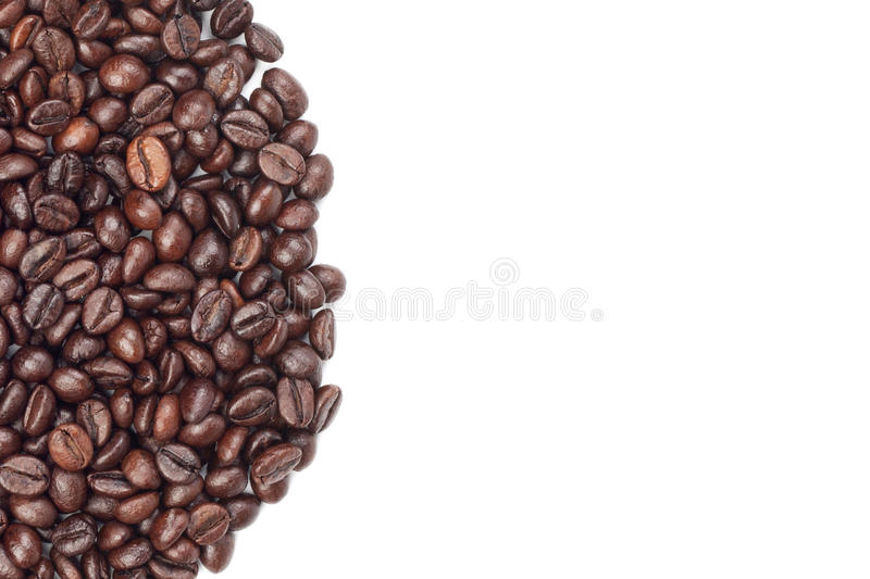 Coffee beans on white background royalty free stock photography