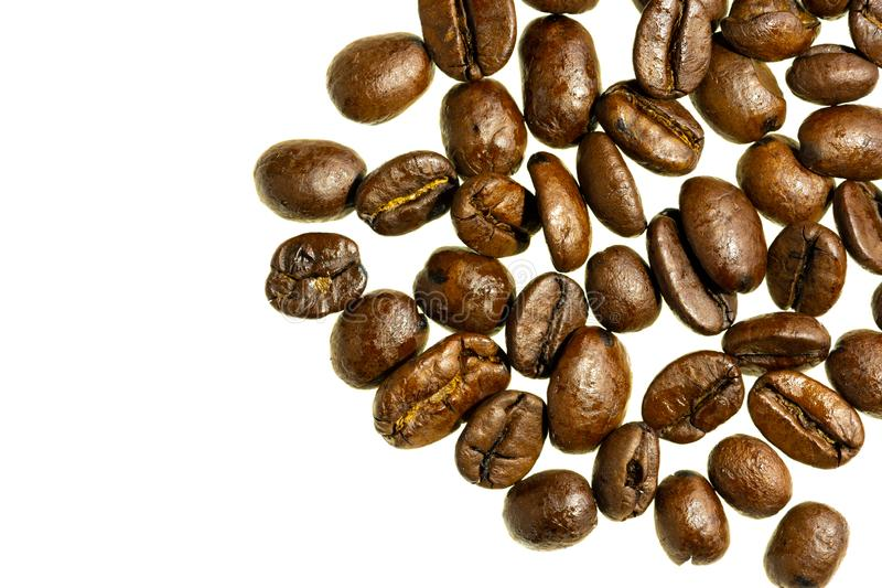 Coffee beans white background isolated stock images